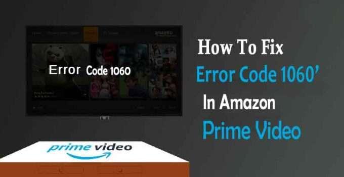 How To Fix Amazon Error Code 1060